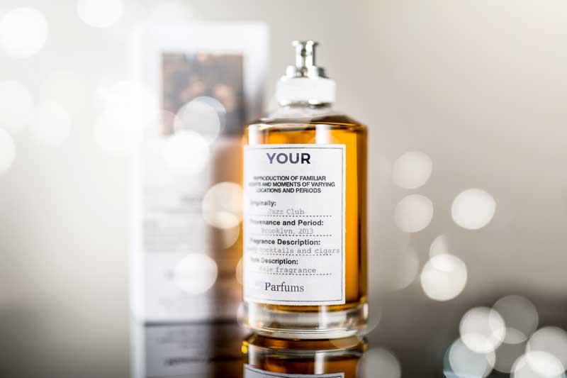 Flacon de parfum de peau sur mesure